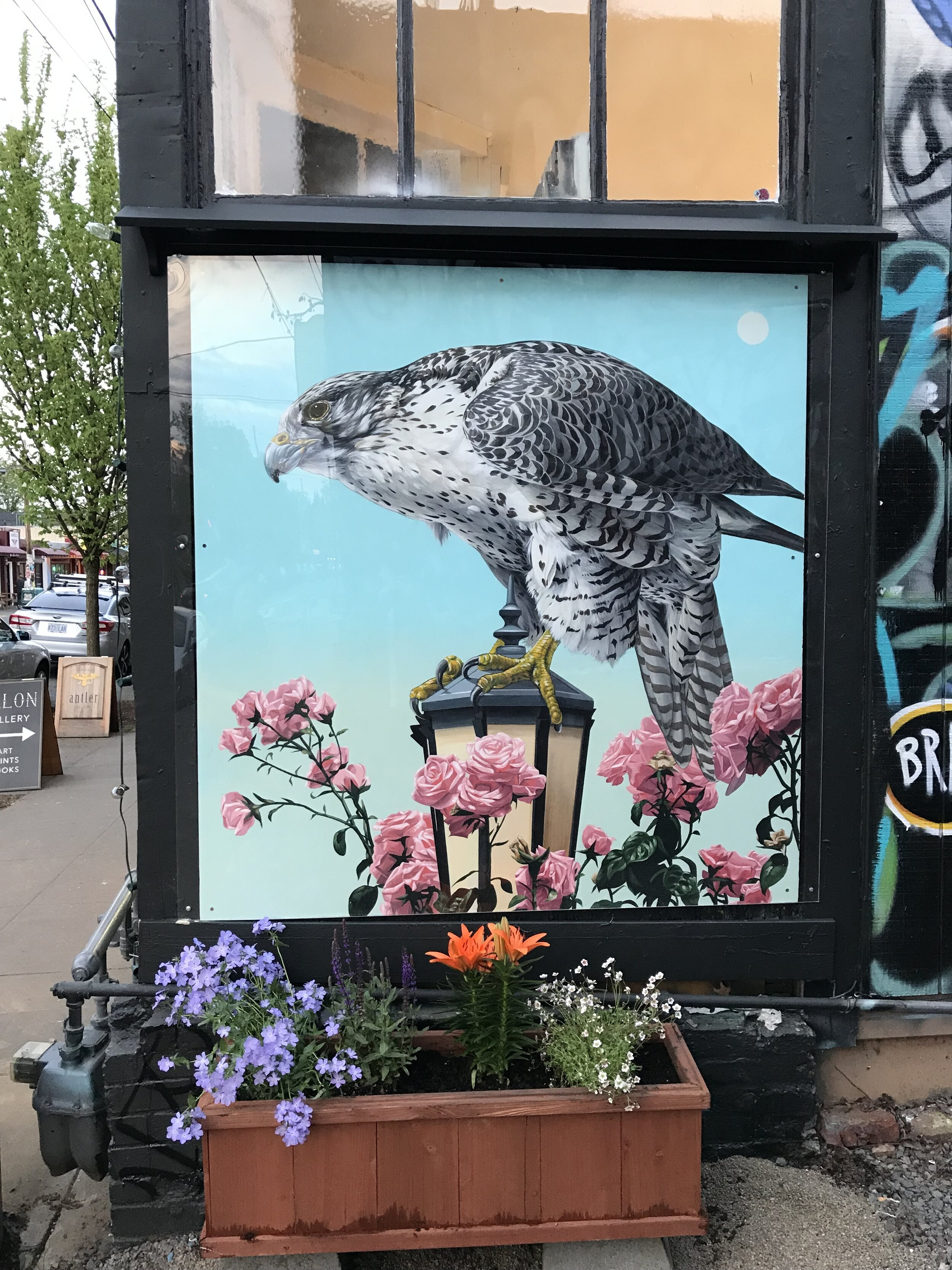 Mural for Talon Gallery, Portland, Oregon 2019