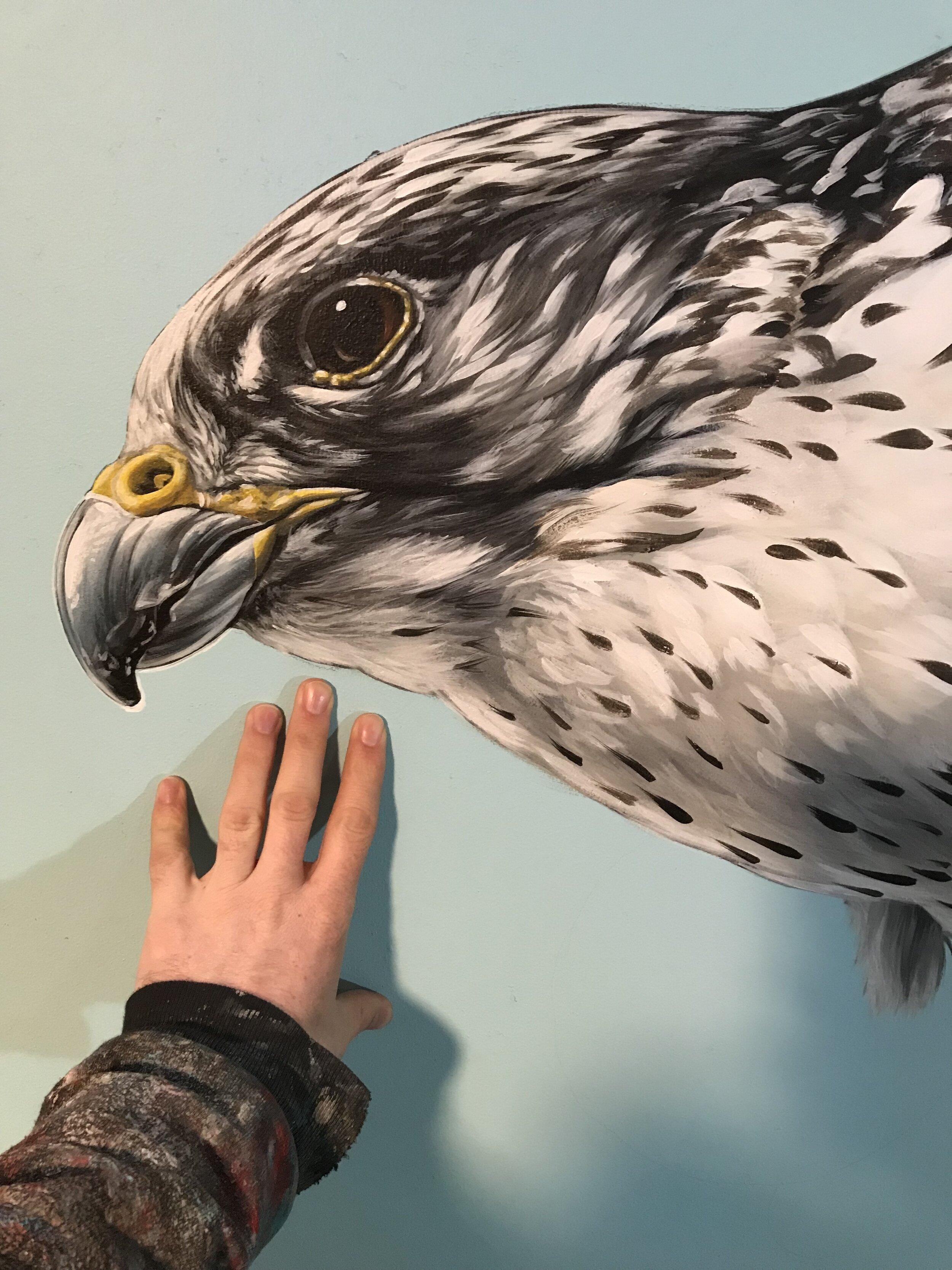 detail of Mural for Talon Gallery, Portland, Oregon 2019