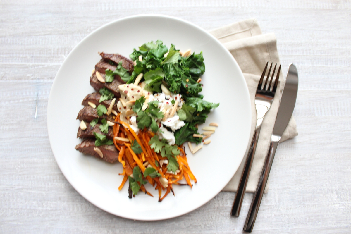 Lamb with Hummus & Carrot Chips