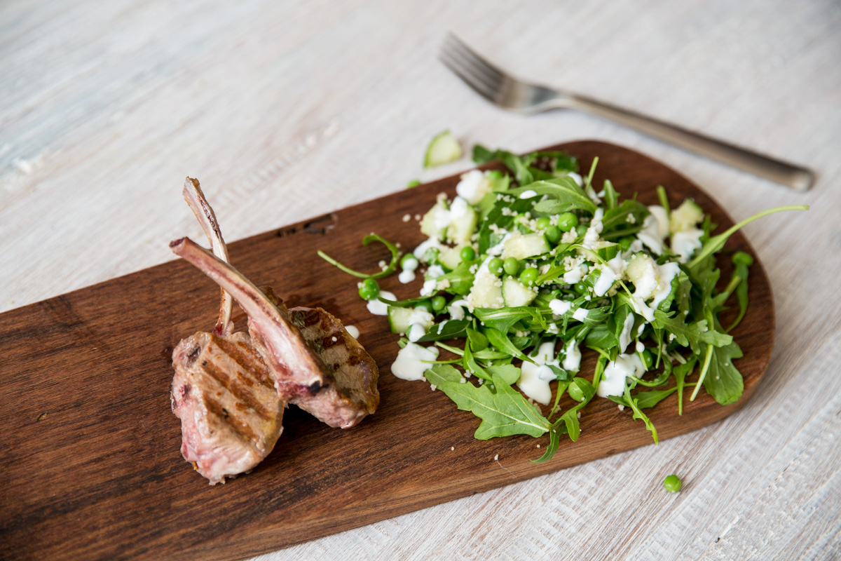 Lamb with Pea & Cous Cous Salad