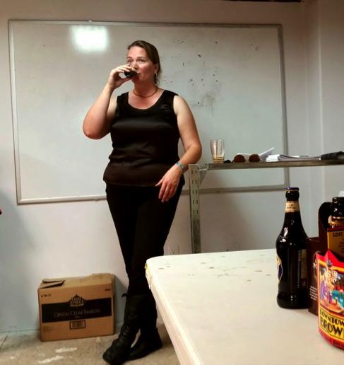Trace Bethune enjoying a beer