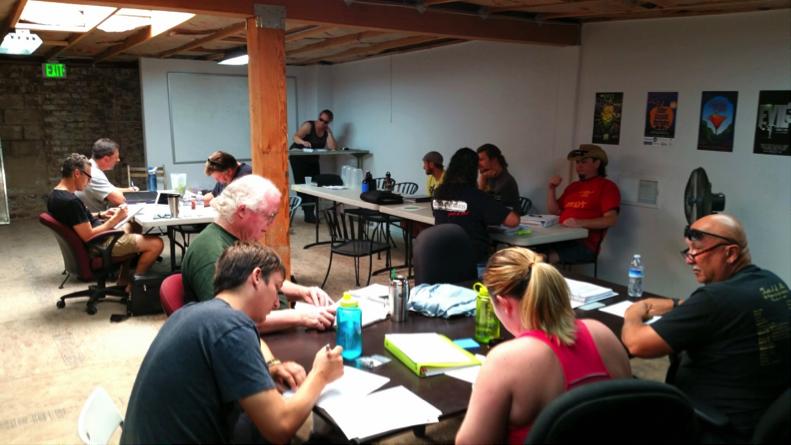 Class in session at Brew Ferment Distill in Sacramento, CA