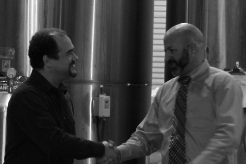 Dan Scott (Left) and Darrell Amerine (Right) at Rubicon Brewery Production Facility