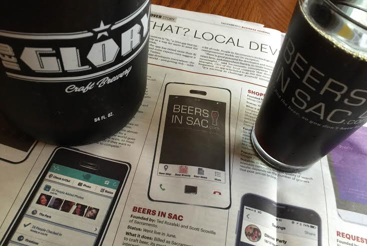 "Sacramento Business Journal Cover Story, ""Killer App Instinct"", Features Beers In Sac App."