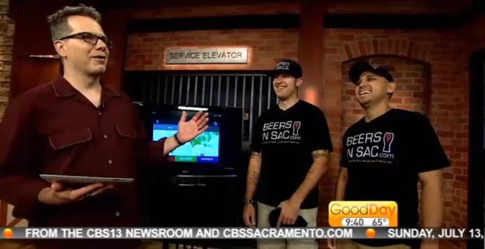 Good Day Sacramento Host, Cody Stark Talks To Scott Scoville And Ted Rozalski, Founders Of Beers In Sac App.