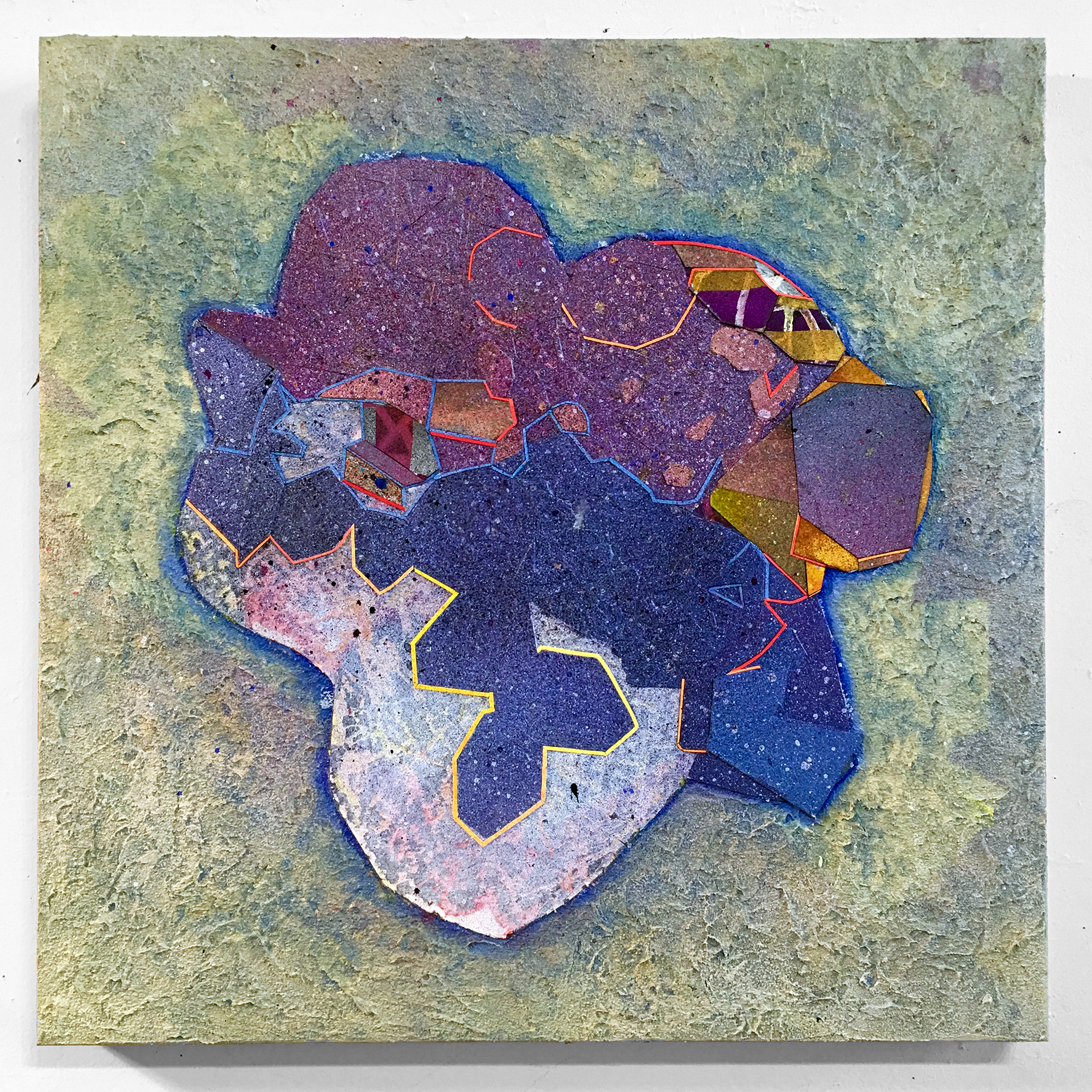 All Heart_NancyBaker_2017_Paper and piant mounted on wood panel_18inches x 18inches_$1800.jpg