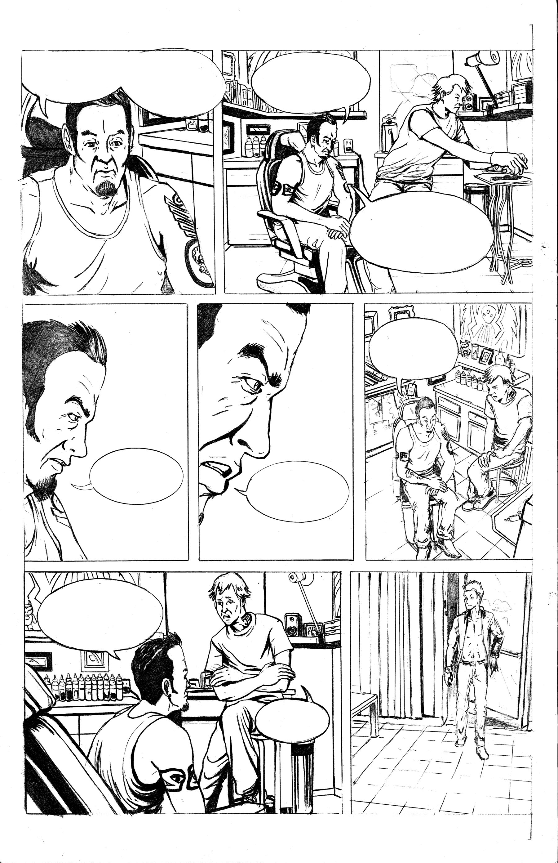 Tattoo Parlor Attack Page 2 Pencils.jpg