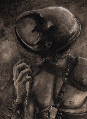 Hercules - charcoal on toned paper - 2018