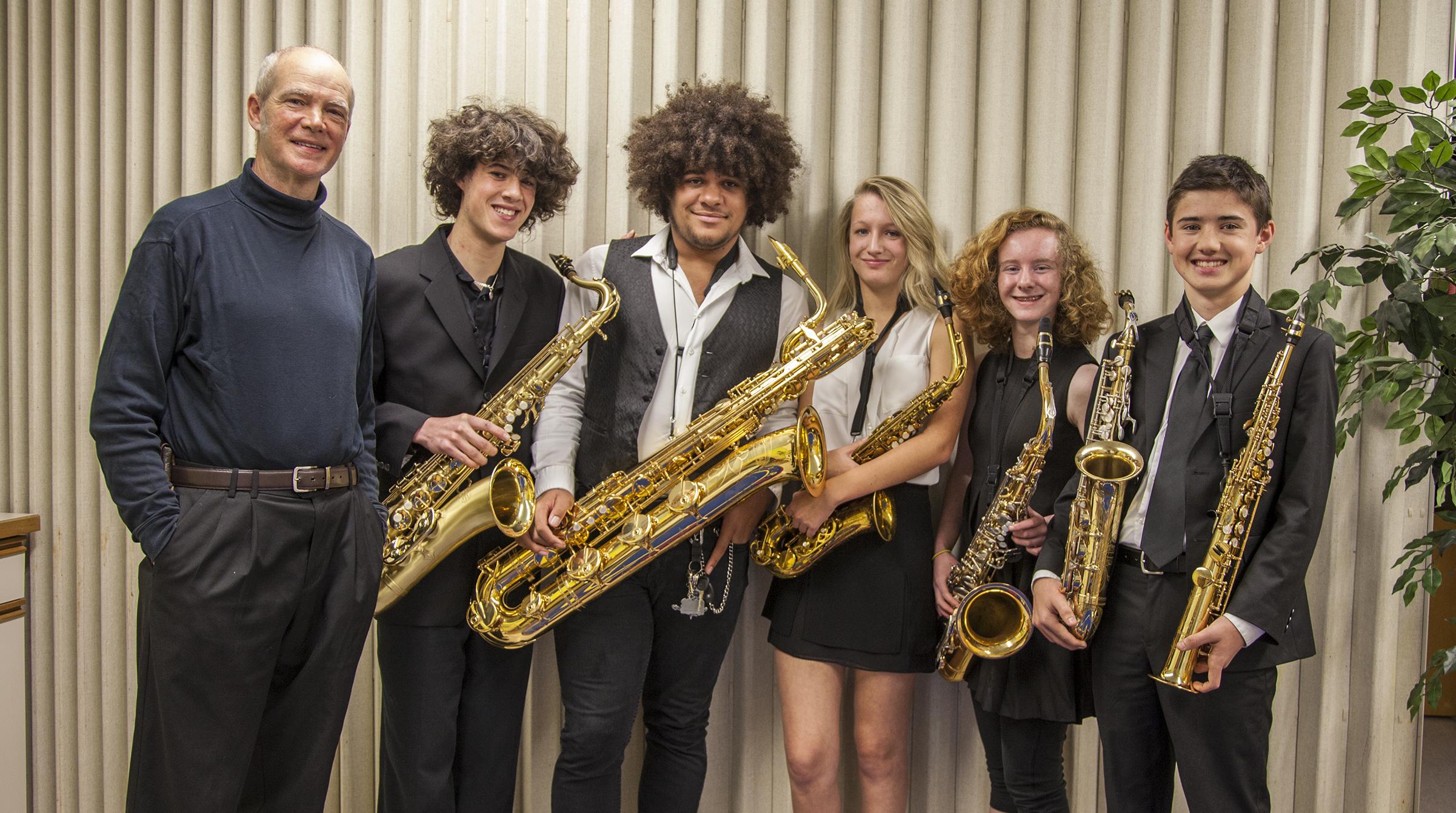 Kid' Sax Ensemble Students of Mark Kelly