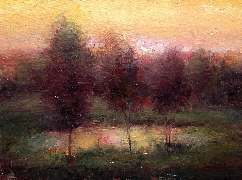 Three Trees at Sundown