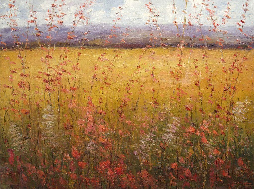"Grassland Wildflowers Oil on Canvas 30"" x 40"""