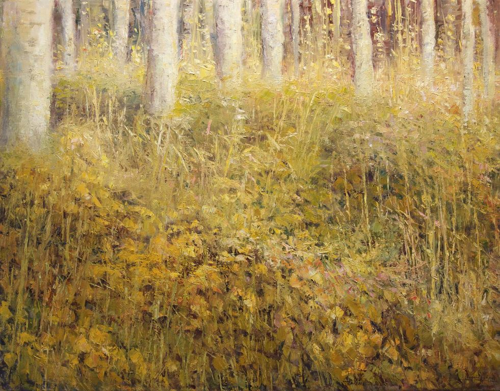 "Aspen Grasses Oil on Canvas 42"" x 54"""