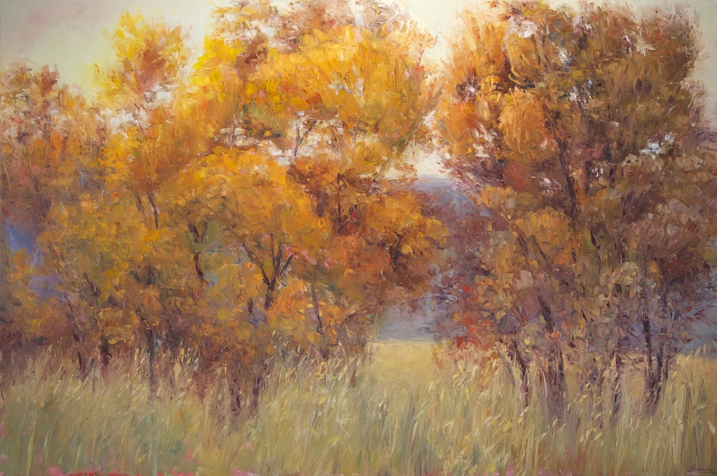 Equanimity of Autumn, oil on canvas, 48x72