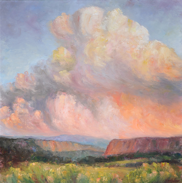 Canyon Storm, oil, 40x40