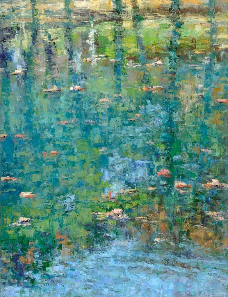 Pond Reflection VI  oil  42x32