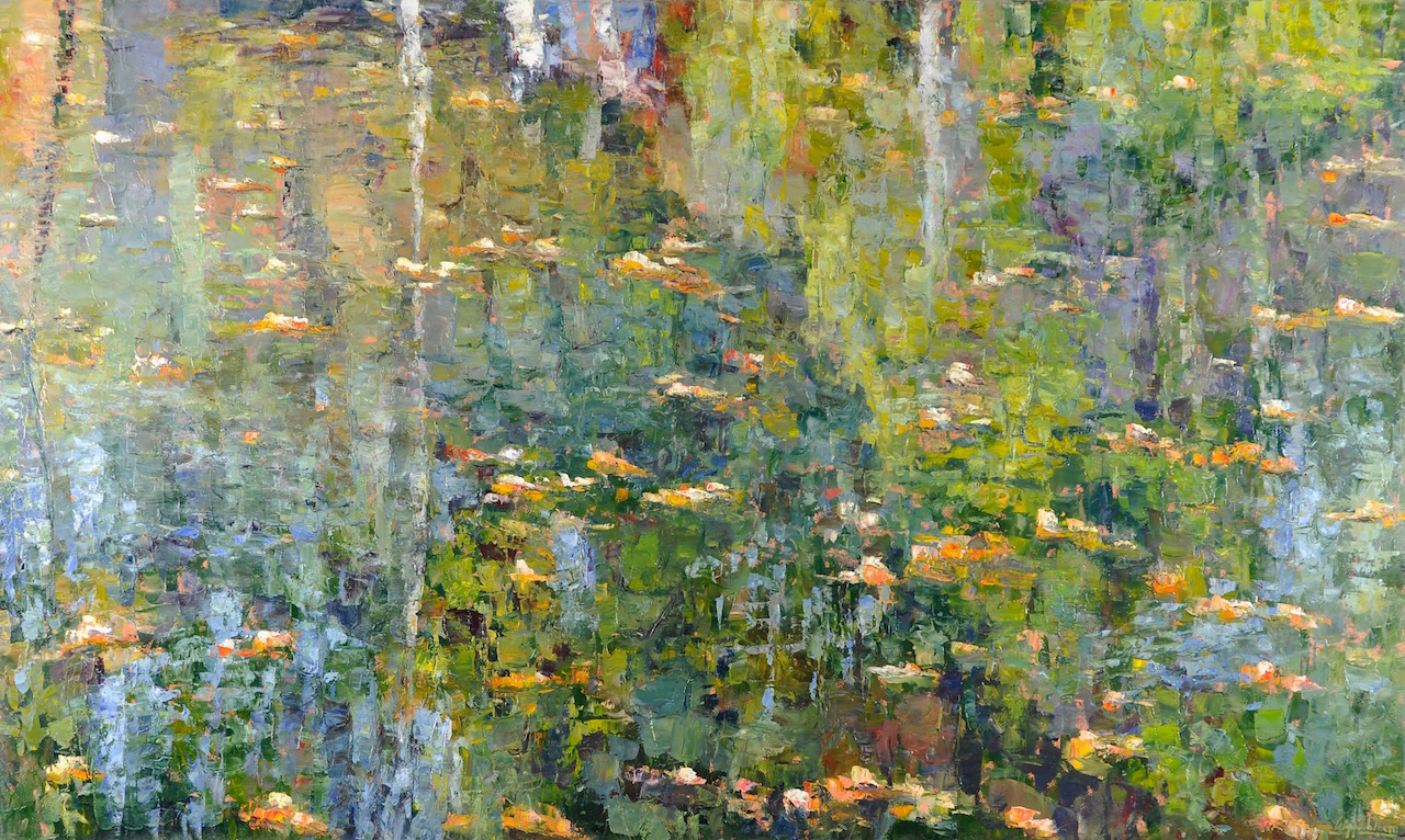 Water's Edge, oil, 48x80