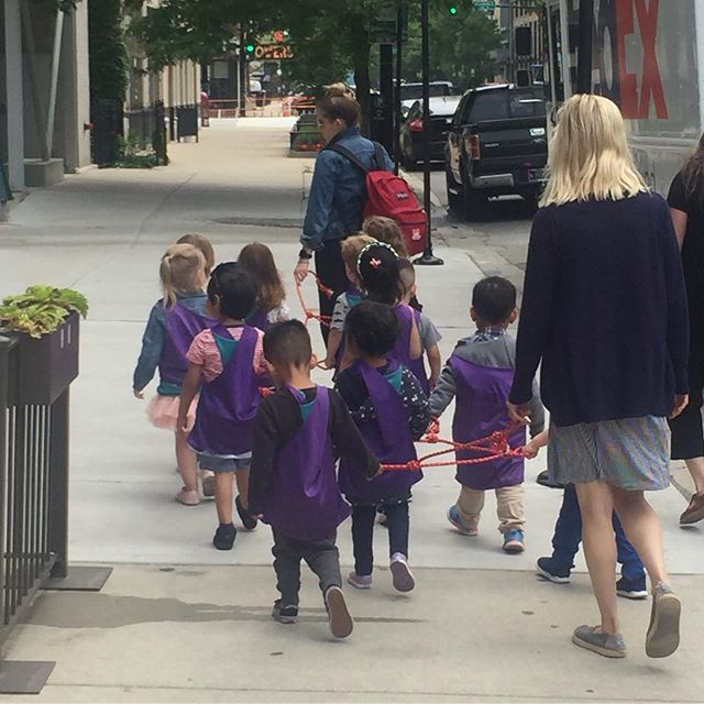 "I saw my little buddies again walking on the streets of downtown Chicago! They remind me of that saying, ""Teamwork makes the dream work."" 👧🏻🧒🏻👦🏻👧🏼🧒🏼👦🏼"
