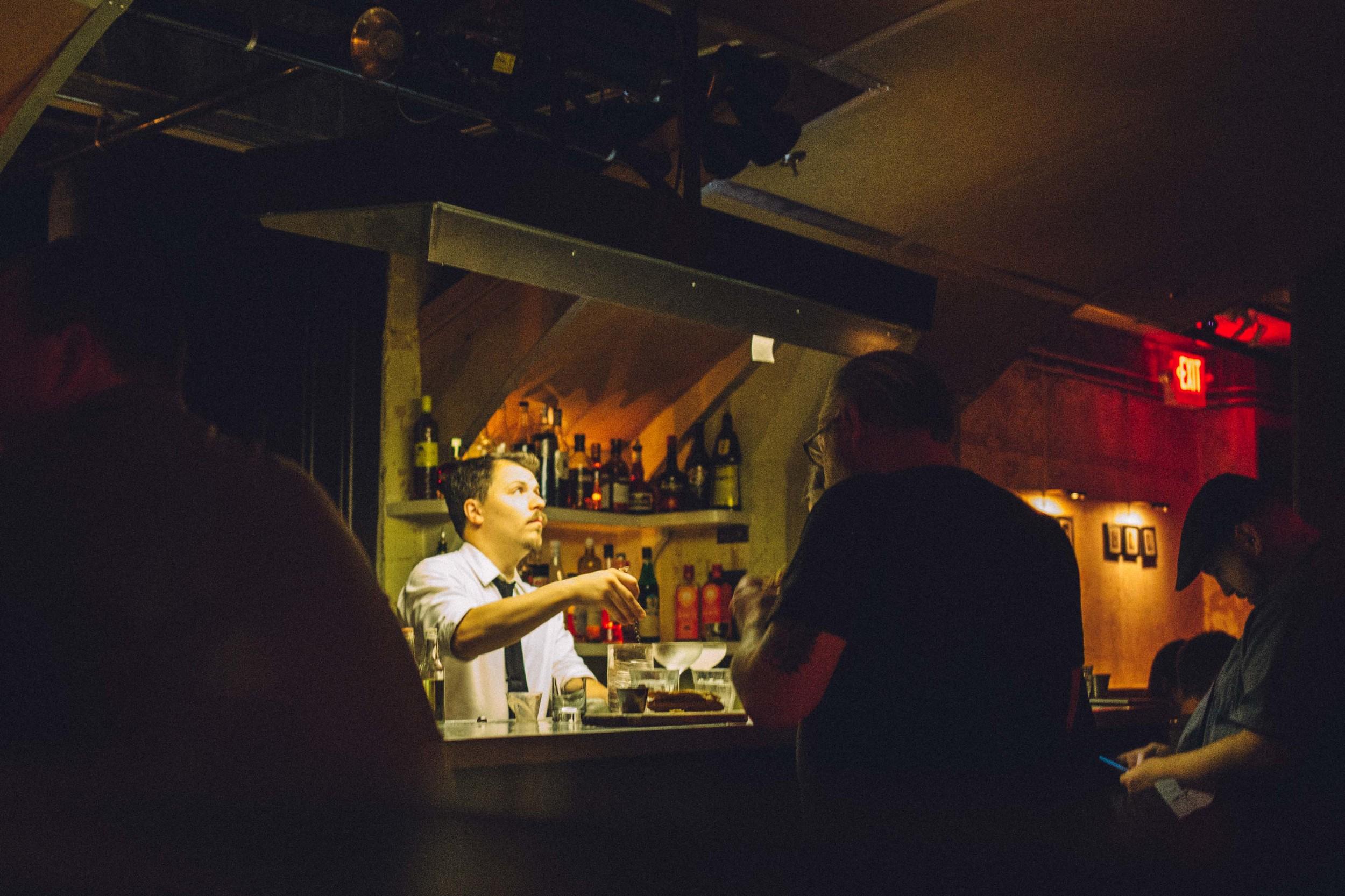 Bartender at Pépé le Moko in Portland, Oregon