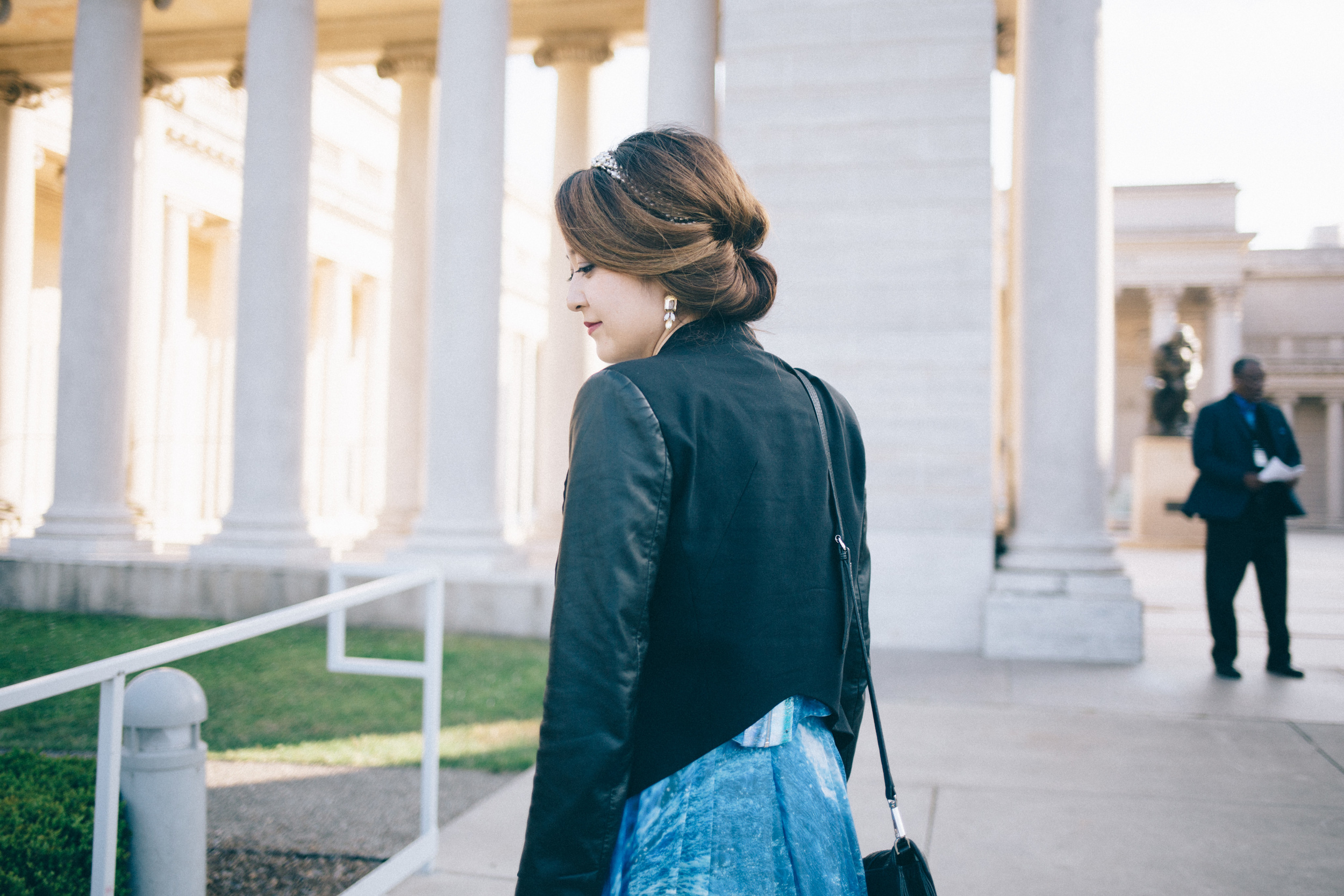 What to wear to an outdoor wedding ceremony at Legion of Honor in San Francisco, California #ootd on www.blossomlink.me by @0oyukao0