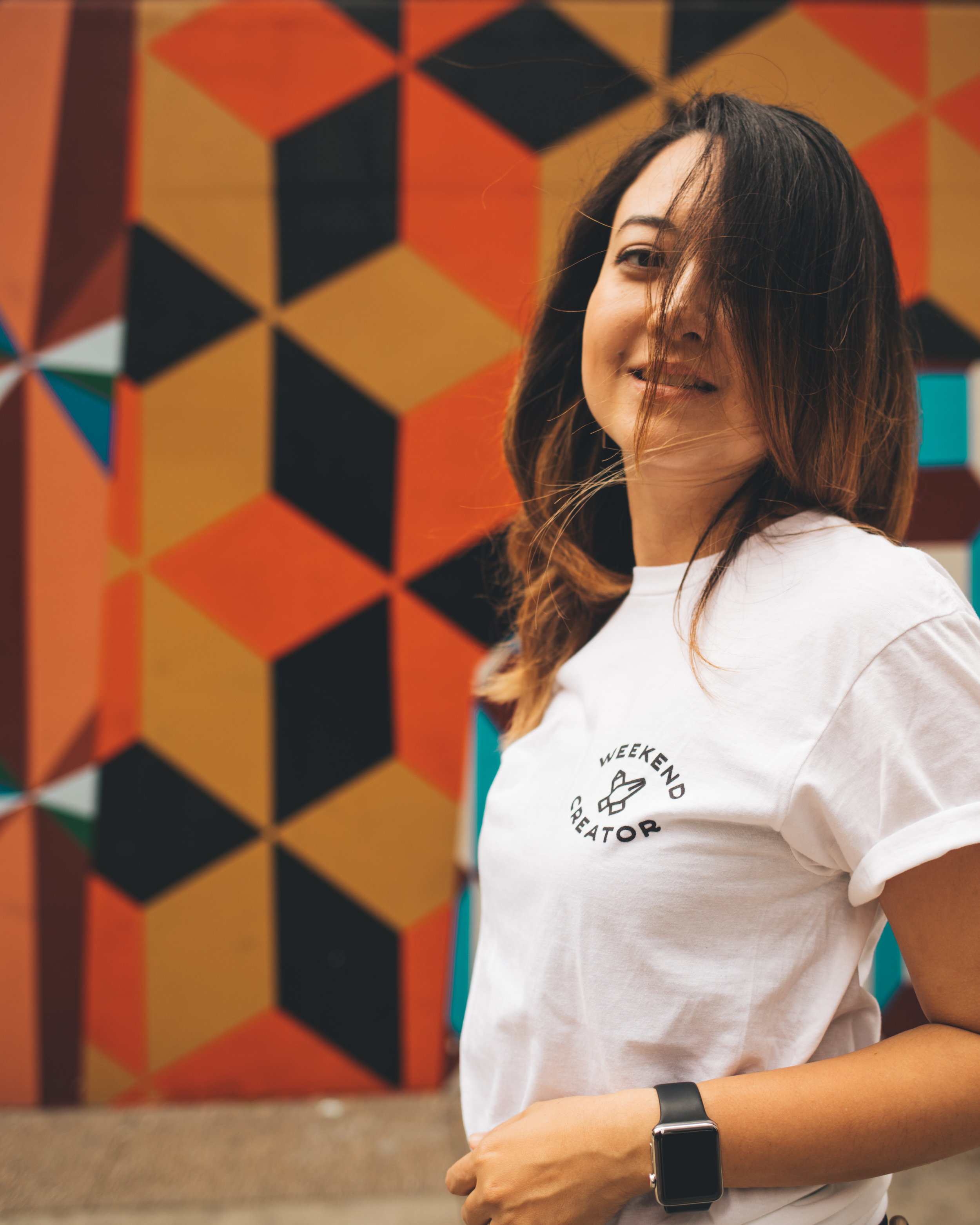 The Weekend Creator Tshirt in white. The first ever merch from Yuka Ohishi.