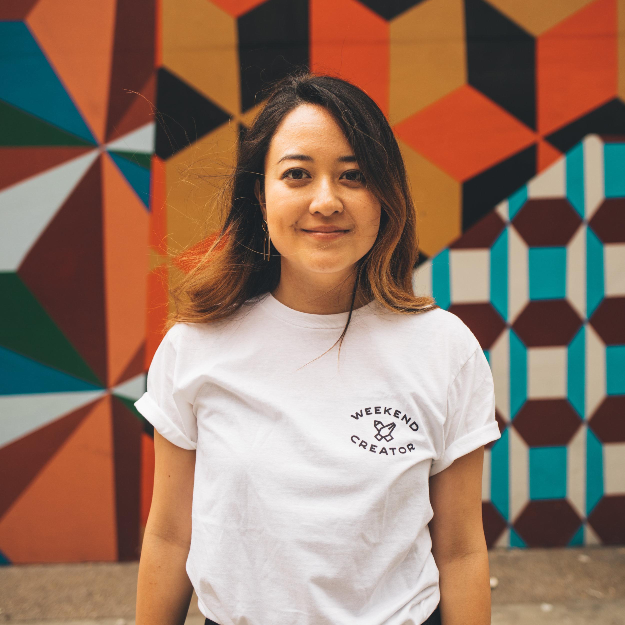 The Weekend Creator Tshirt in white. The first ever merch from Yuka Ohishi(@0oyukao0). #weekendcreator #週末クリエイター