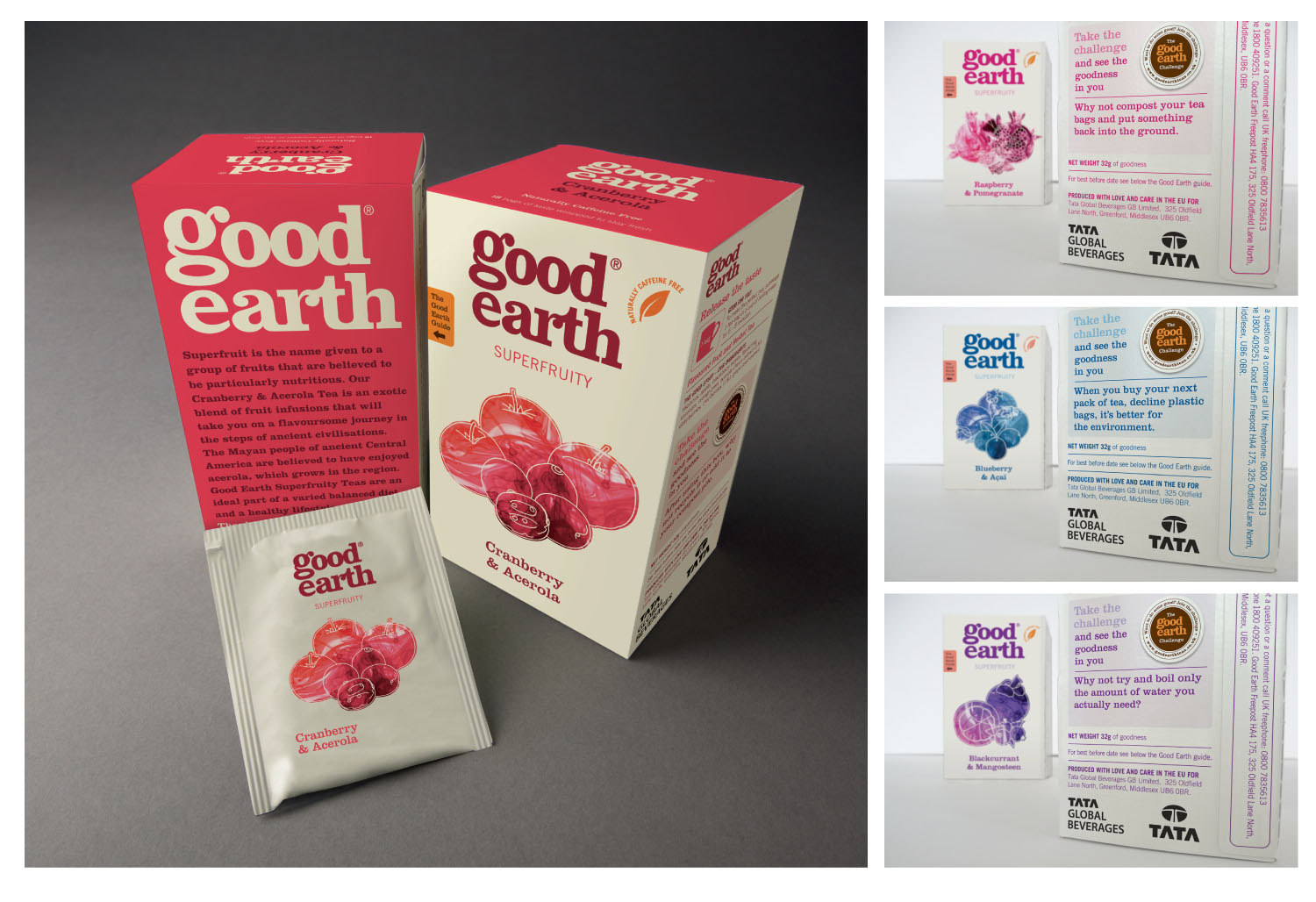The back of the packs reinforced the Good Earth tone of voice with  The Good Earth Challenge  - encouraging customers to be good to others, good to the planet and good to themselves.
