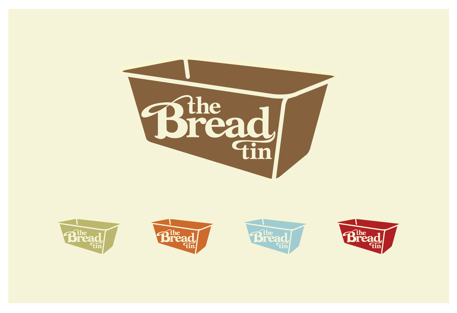 The Bread Tin logo and colour palette