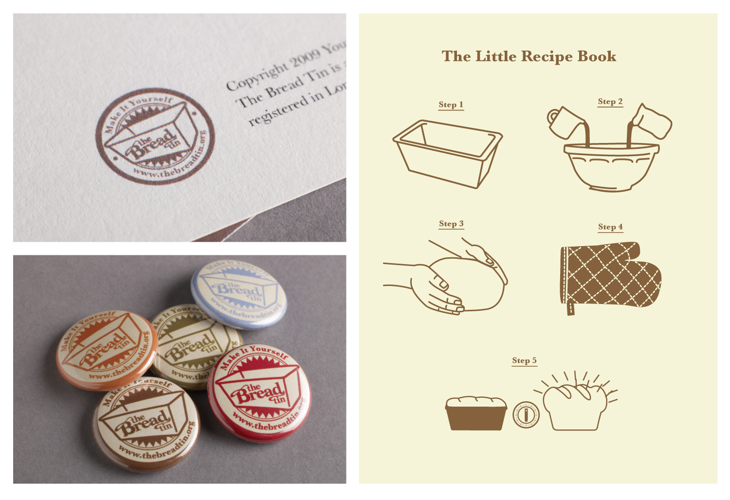 A stamp was created that appeared on letterheads and promotional badges. The illustration style was one that would not look out of place in a cook book, and was designed to help describe the process to potential clients.