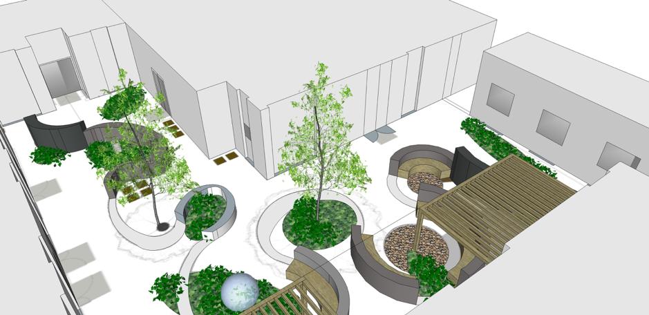 Sobell House courtyard garden