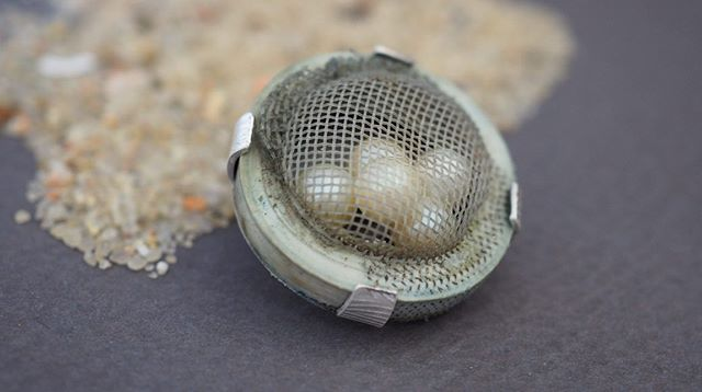 A fun little brooch pin for the month of May. Found piece from the coast, textured sterling silver and reused pearls from an old necklace. #onemanstrashcouldbeyourtreasure