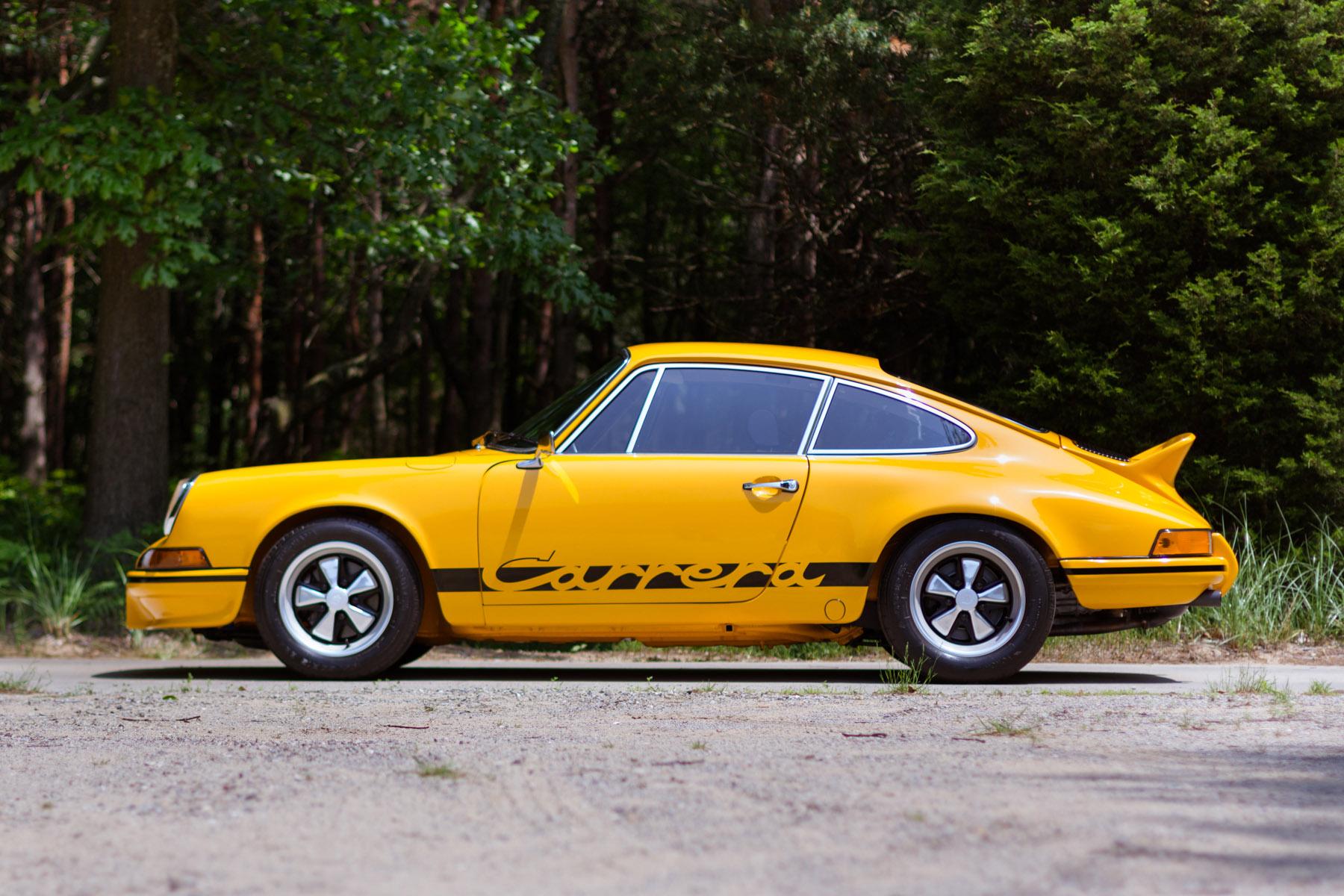 On the block: 1973 Porsche 911 2.7 Carrera RS (Estimate $475,000 - $550,000). Image courtesy Gooding & Company/Mike Maez