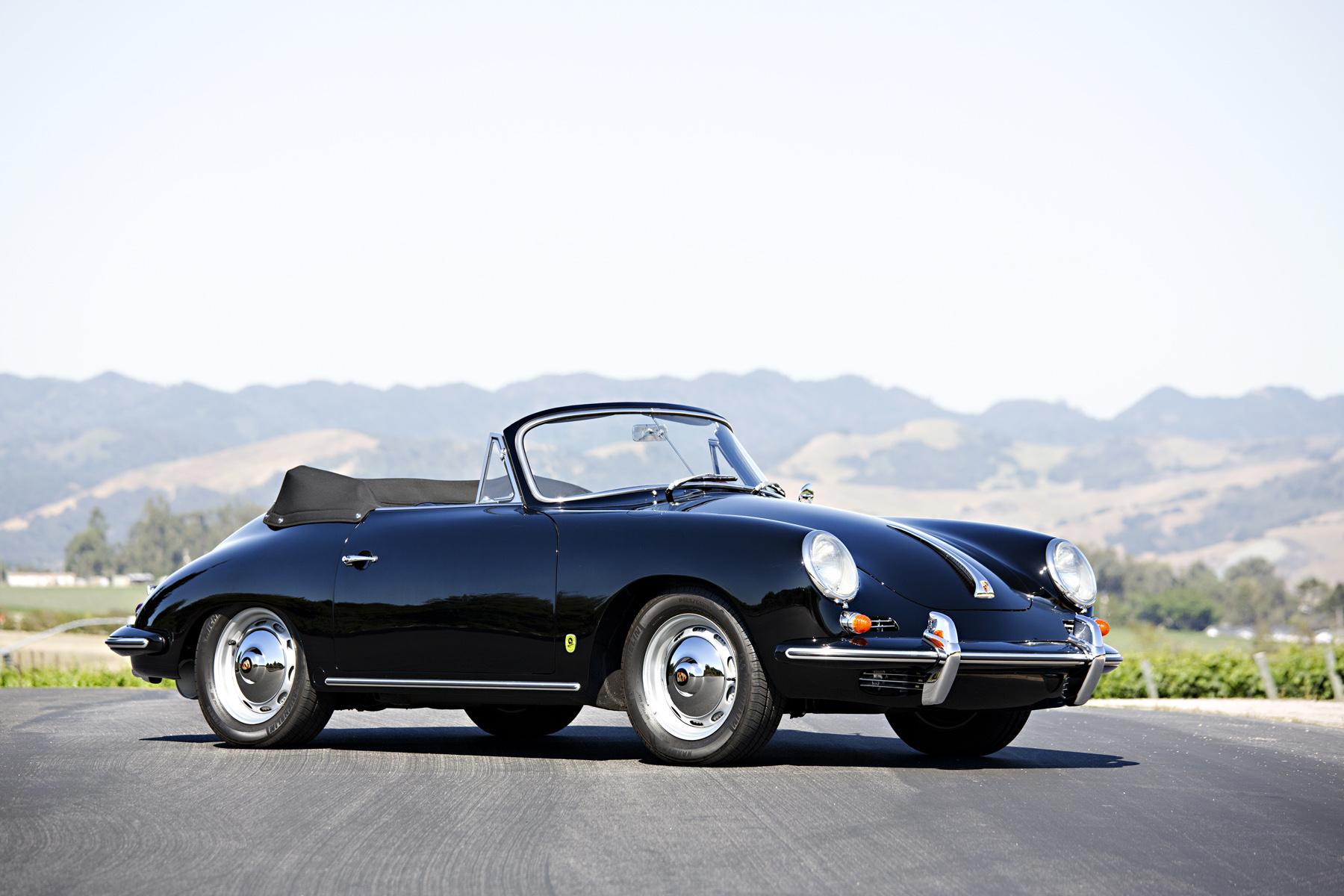 On the block: 1962 Porsche 356 B Super 90 Cabriolet (Estimate $135,000 - $150,000). Image courtesy Gooding & Company/Brian Henniker.