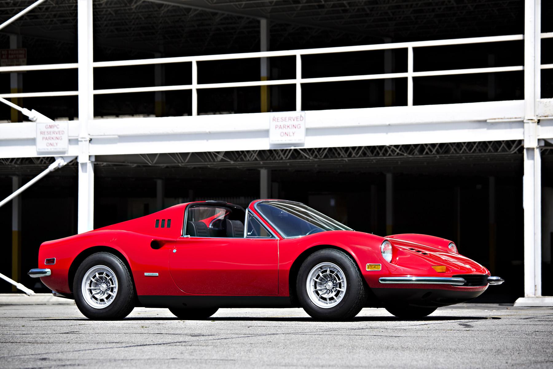 On the block: 1974 Ferrari Dino 246 GTS (Estimate: $350,000 - $425,000). Image courtesy Gooding & Company.