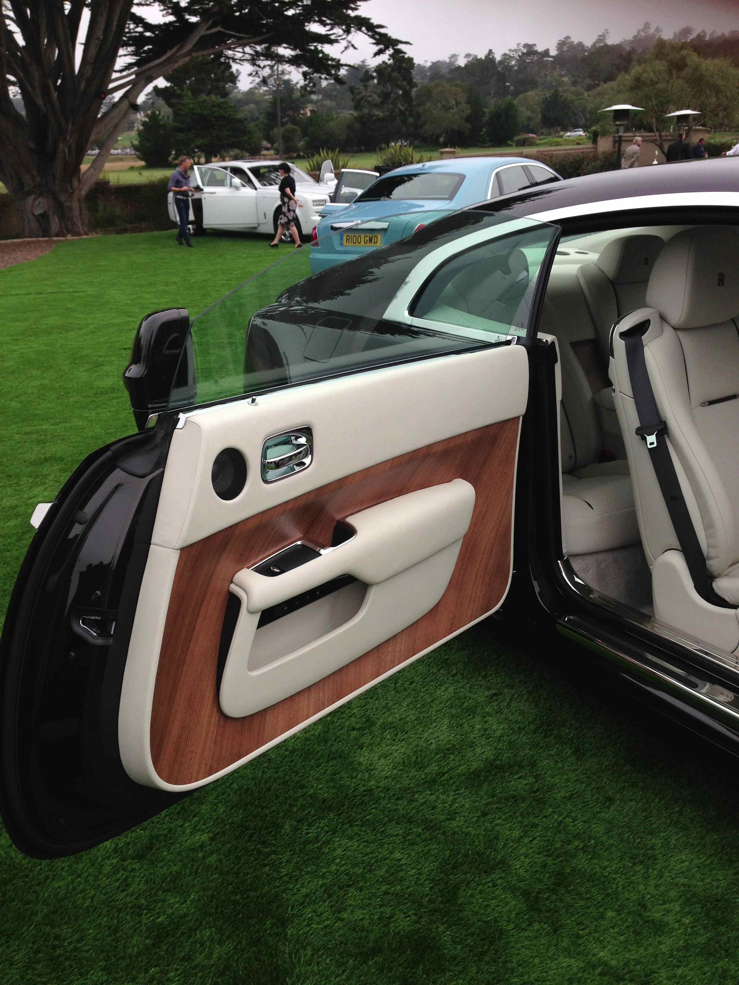 The Rolls-Royce Wraith welcomes you aboard