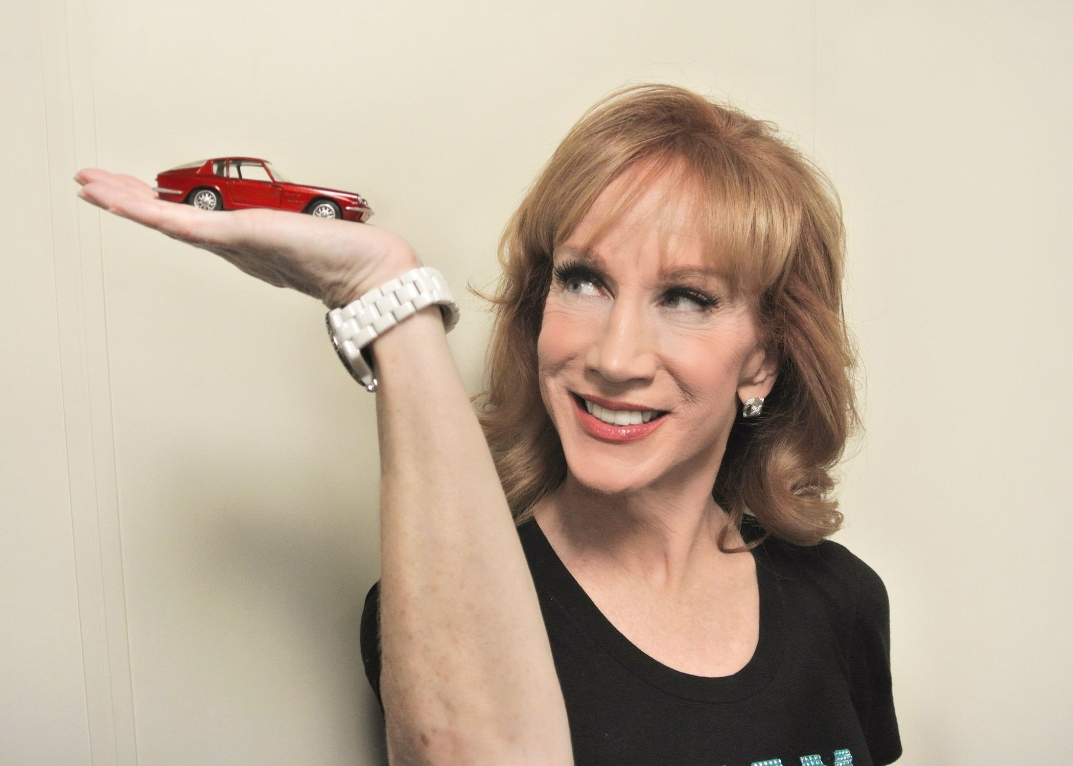 The Car Crush backstage with the indomitable Kathy Griffin and Maserati Mistral following her performance aboard the Celebrity Silhouette/Atlantis Cruise