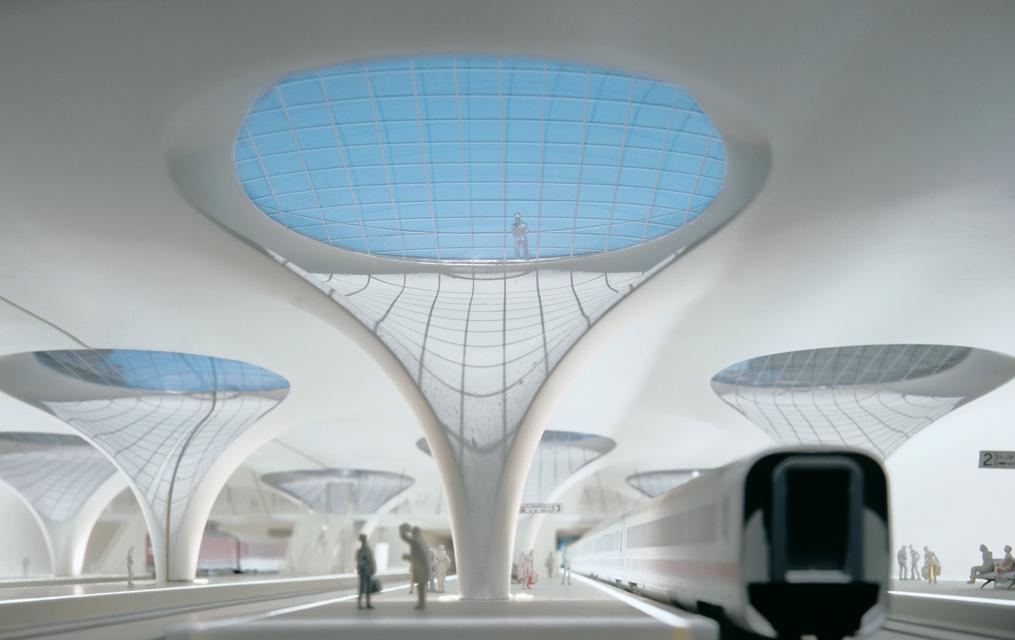 """Christoph Ingenhoven's """"Stuttgart 21"""" Railway Project, Stuttgart, Germany"""