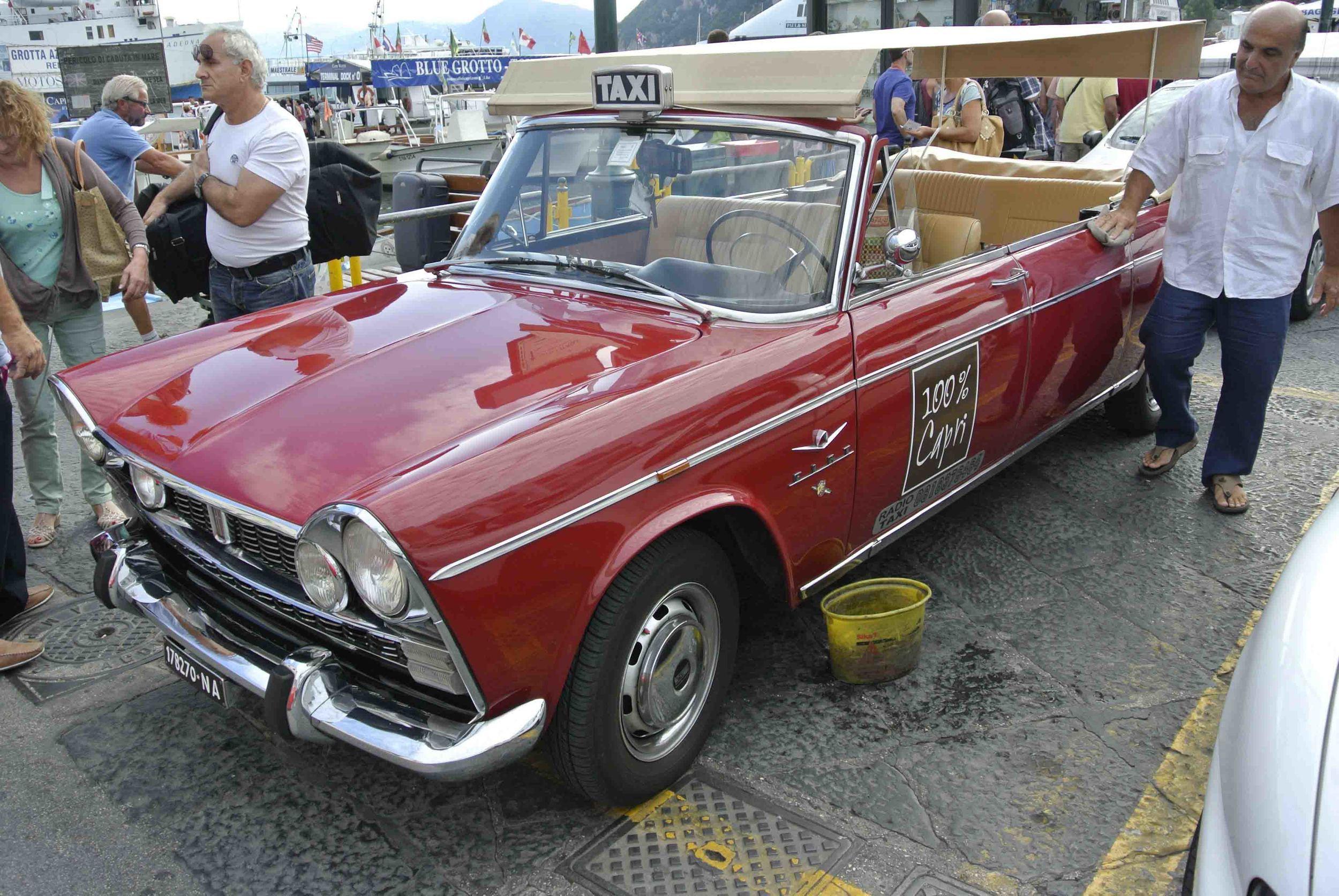 FIAT open-air limousine in Capri, Italy