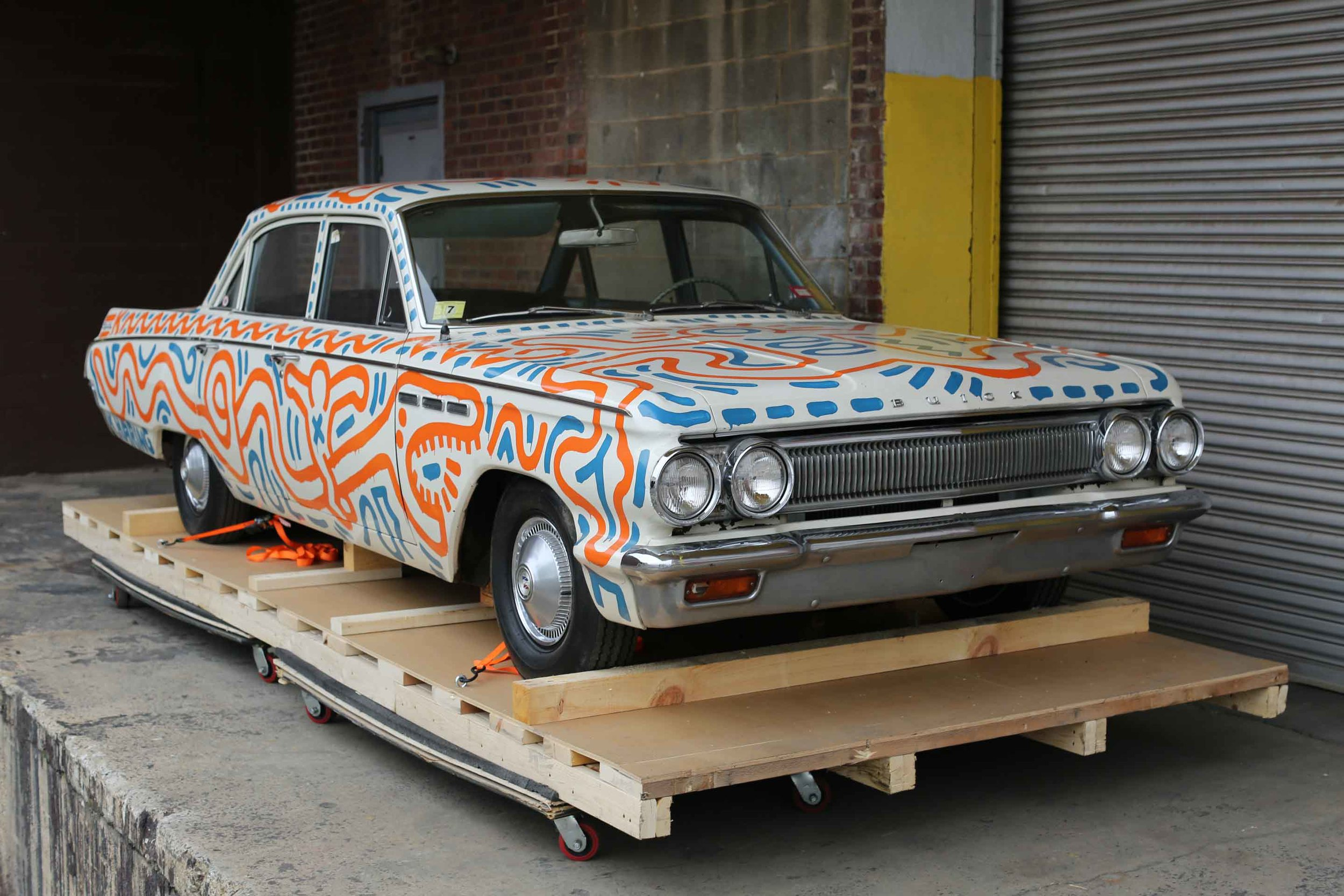 Keith Haring,Untitled (Car), 1986;Enamel on 1963 Buick Special