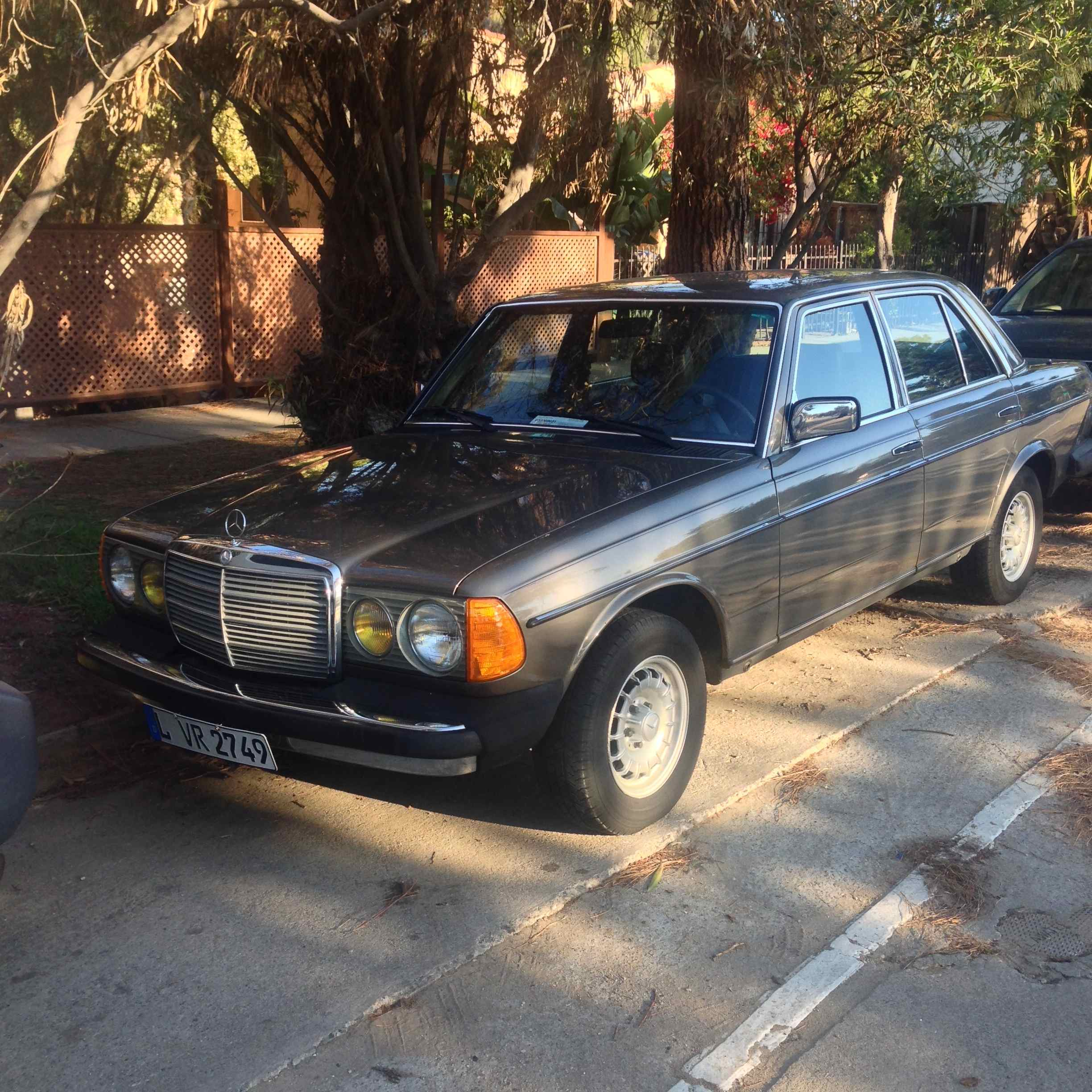1980s Mercedes-Benz 300D on Silver Lake Blvd., and below, a pair of 300CDs of the same vintage down the street.