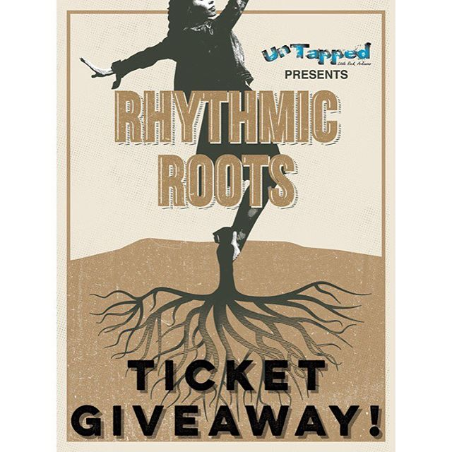 TICKET GIVEAWAY!  Go to the Arkansas Dance Network Facebook page, share their giveaway post, and tag someone in the comments, and you will be entered to win two tickets to Rhythmic Roots!