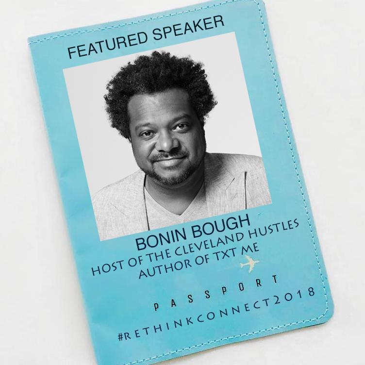 Bonin Bough, Host of Cleveland Hustles and Author of TXT me