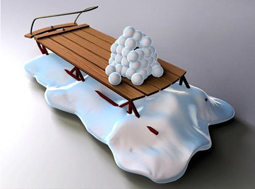 Cart 3D Rendering