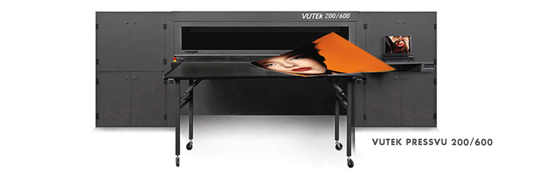 - The flexible and reliable VUTEk PV200 achieves around-the-clock productivity. - 6 Color (C, M, Y, K, LC, LM) hi definition-600 dpi printing for superior quality. - Delivers high-quality, color-rich output ona wide range of flexible and rigid substrates quickly and easy. - Prints on rigid and flexible substrates up to 78 inches wide and up to 1.75 inches (4.45 centimeters) thick.
