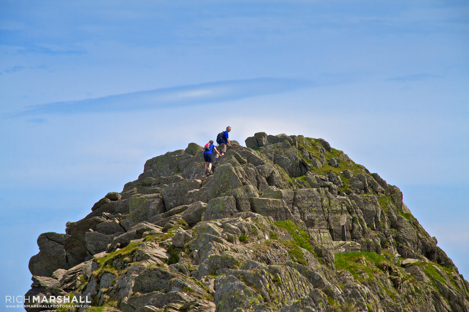 Hikers tackle Striding Edge