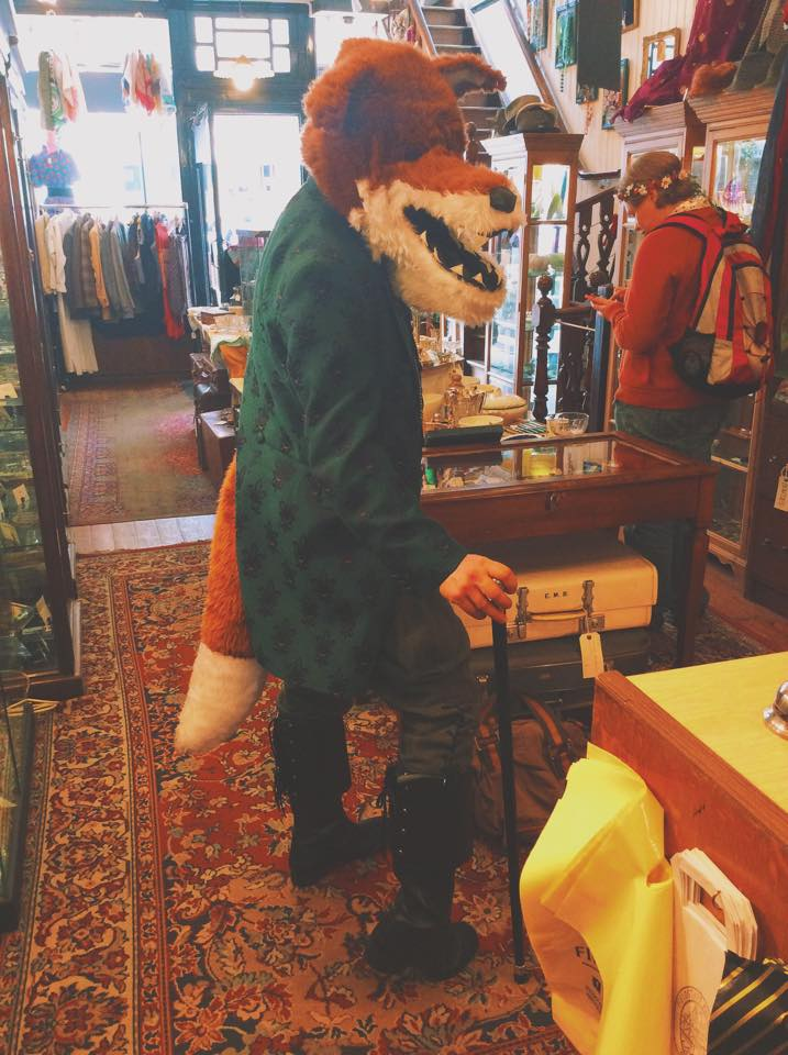 A foxy whiskered gentleman visitor....great costume!