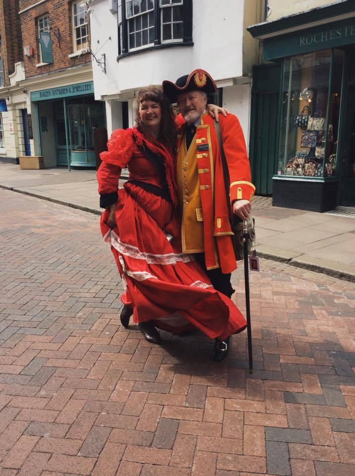Larraine Stevens as Nancy & Robin Buford our wonderful town crier