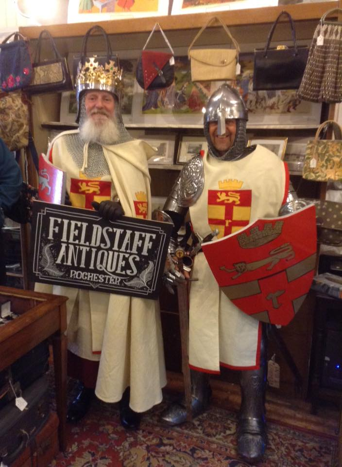 Gregory Hodgeman & Mark Colyer as the Knights of Rochester Castle