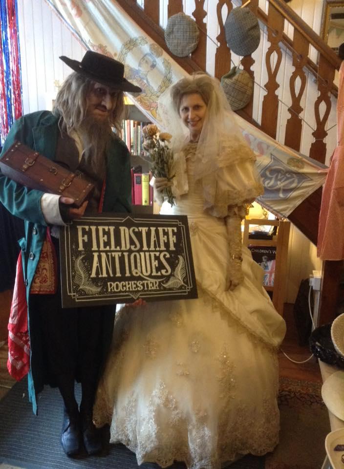 Fagin (Paul Adams) and Miss Havisham (Dawn Adams)