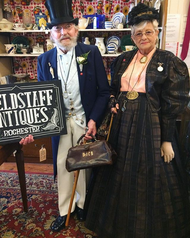 Barry & Eve Luck came to visit us this morning before going off to explore day two of Dickens Weekend!