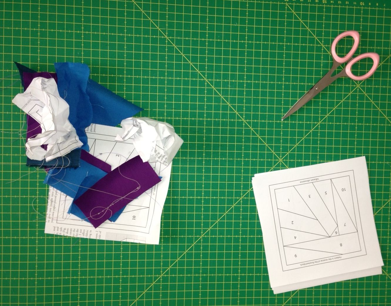 My failed attempts at paper piecing (June 2013)